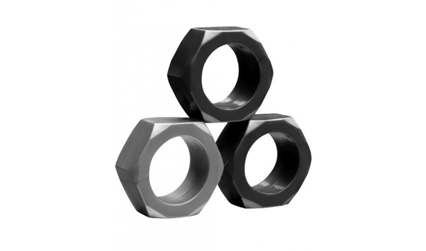 Tom of Finland Hex Nut Cock Ring Set